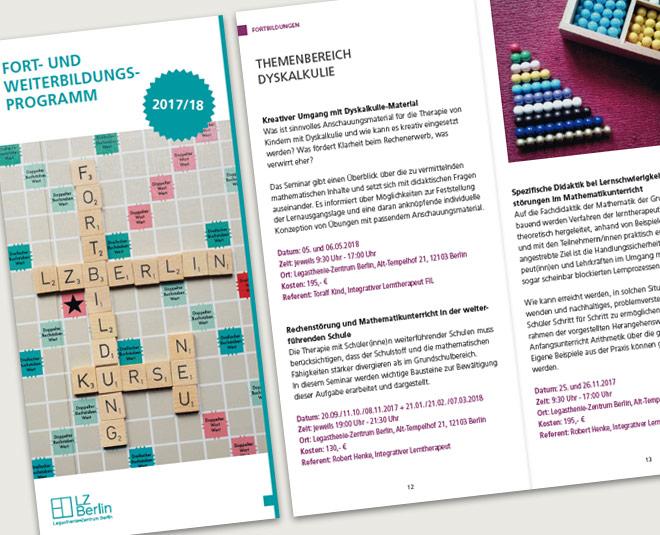 Jahresprogramm Legasthenie-Zentrum Berlin e. V. 2017/18