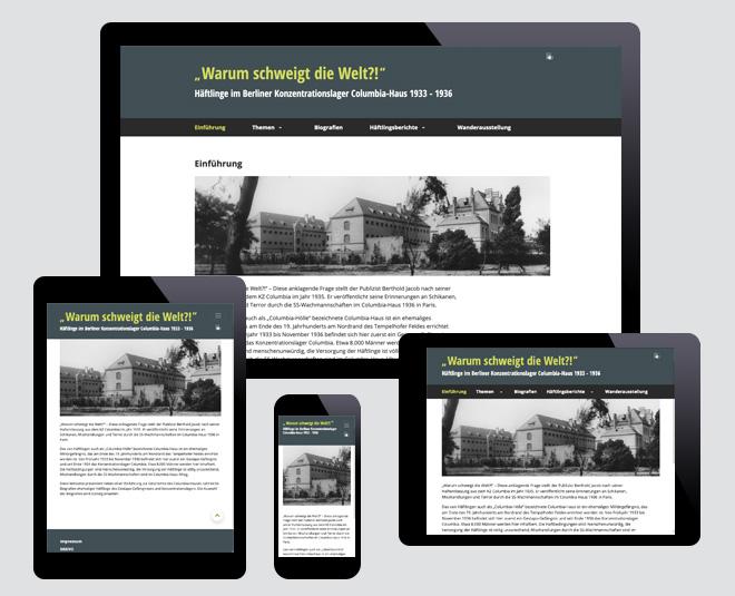 Website Berliner Konzentrationslager Columbia-Haus 1933-1936